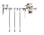 Vysokotlaké a nízkotlaké zkušební zařízení, model HND-W-3